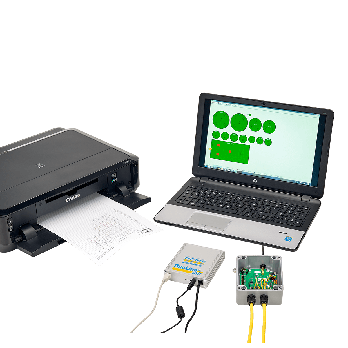 DuoLine STAR soft: Temperature measuring system with PC